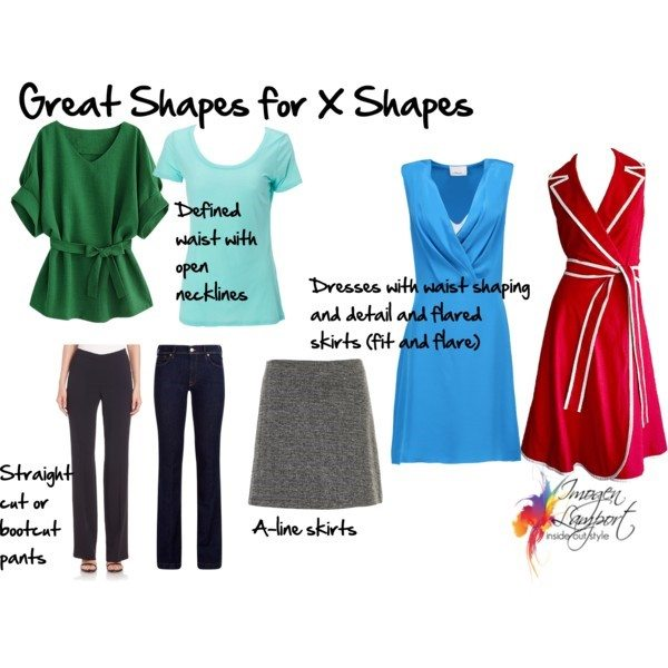 Body Shapes Explained X Shape - what to wear