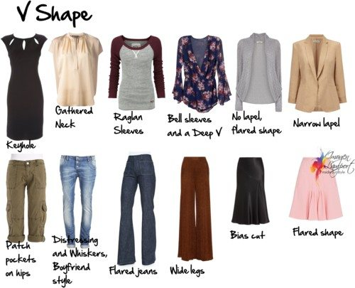 V shape what to wear