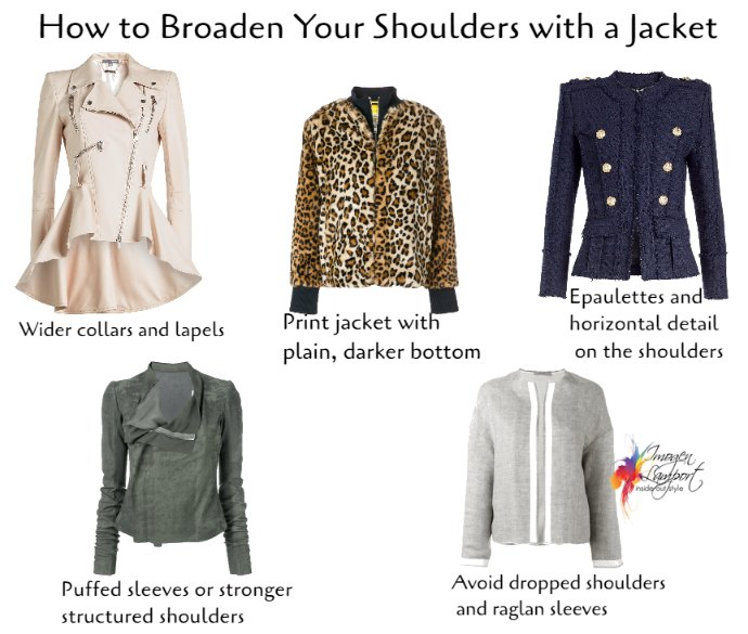 How to broaden your shoulders with a jacket