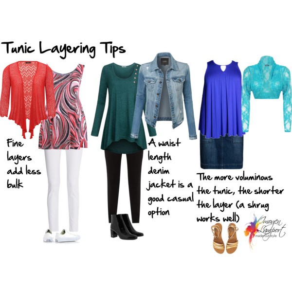 How to layer cardigans and jackets over tunics