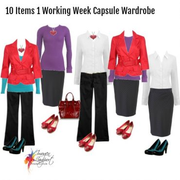 Wardrobe Capsule - 10 items - 1 working week of outfits