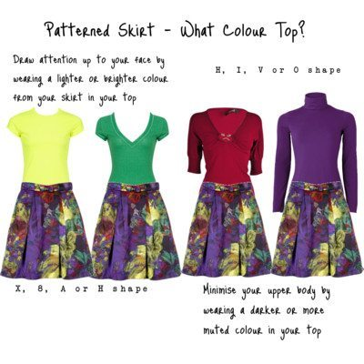 Patterned Skirt – What Colour Top?