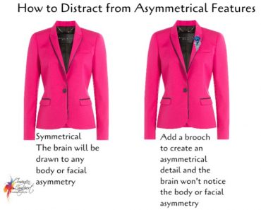 How to distract from asymmetrical facial or body features
