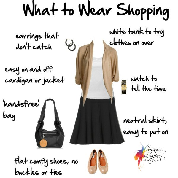 What to wear shopping for clothes