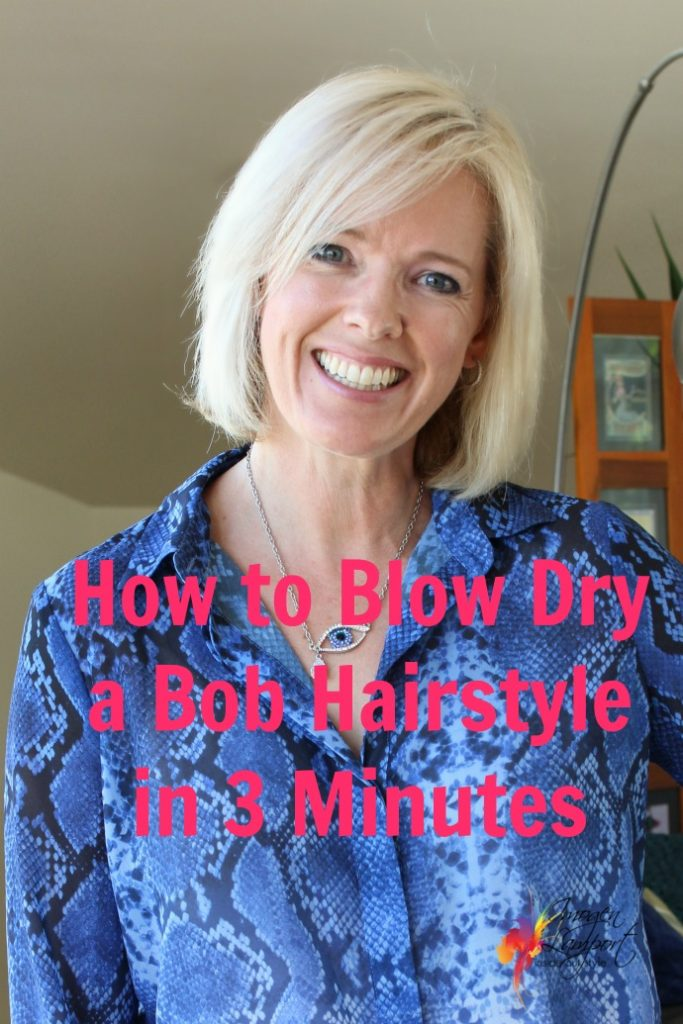 how to blow dry a bob in 3 minutes