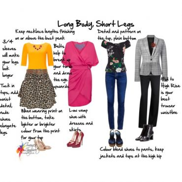 How to dress the longer body with shorter legs proportioned body