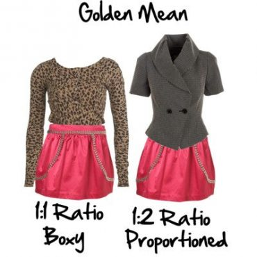 How to dress with the golden mean ratio