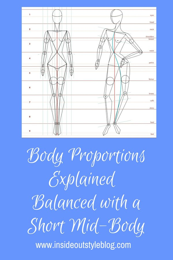 How to dress the balanced but with a short mid-body proportions so that you look longer through your body and thighs