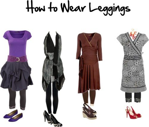 how to wear short dresses with leggings