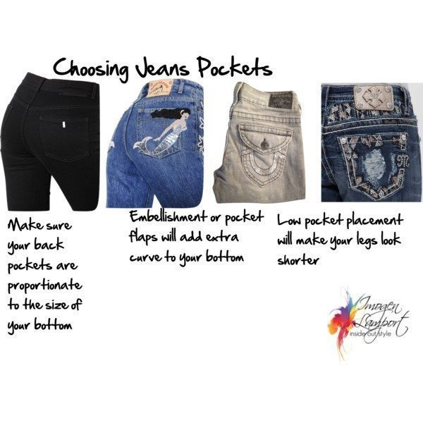 choosing jeans pockets to flatter your butt