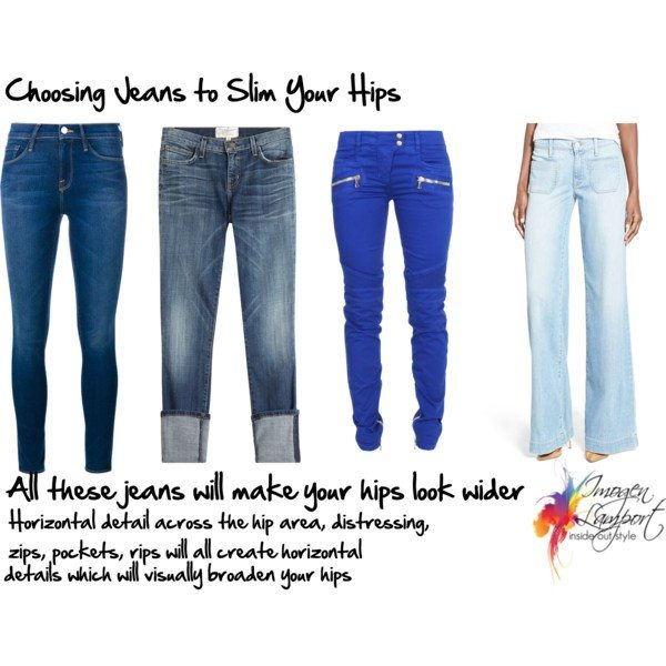 5716b0fb56 How to Choose Jeans Styles to Flatter Your Hips - Inside Out Style