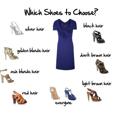 Blue white dress color shoes