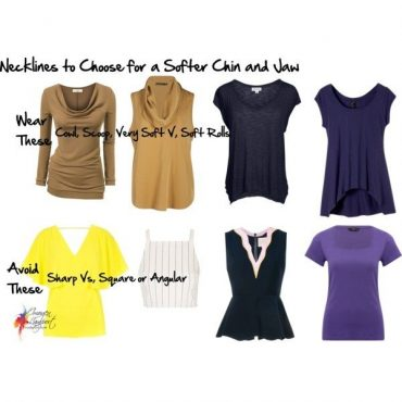 Necklines to flatter a softer chin and jaw