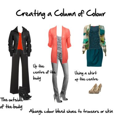 Using a Column of Colour to Look Taller and Slimmer