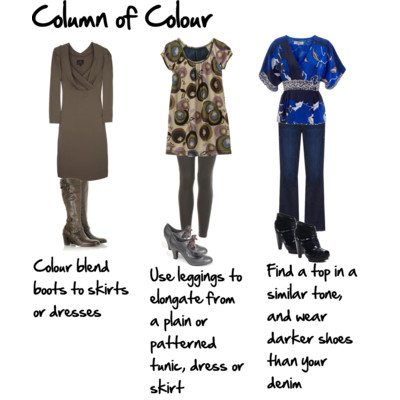 More Ways to Create a Column of Colour to Lengthen and Slim