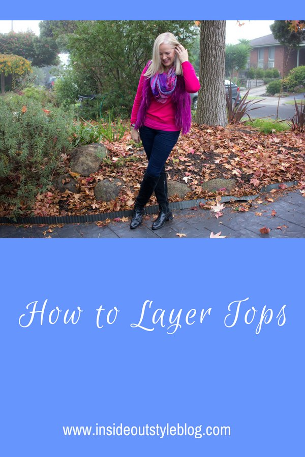 How to layer tops to flatter your figure - top tips from an internationally certified image professional