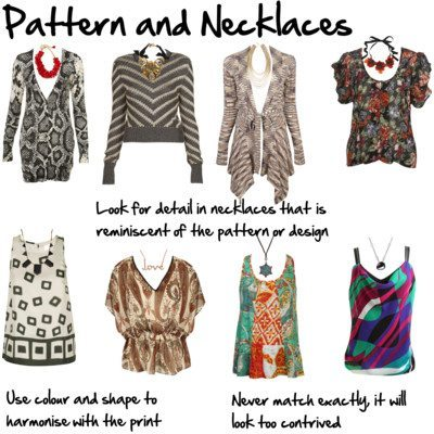 How to Choose a Necklace to Work with a Pattern or Print