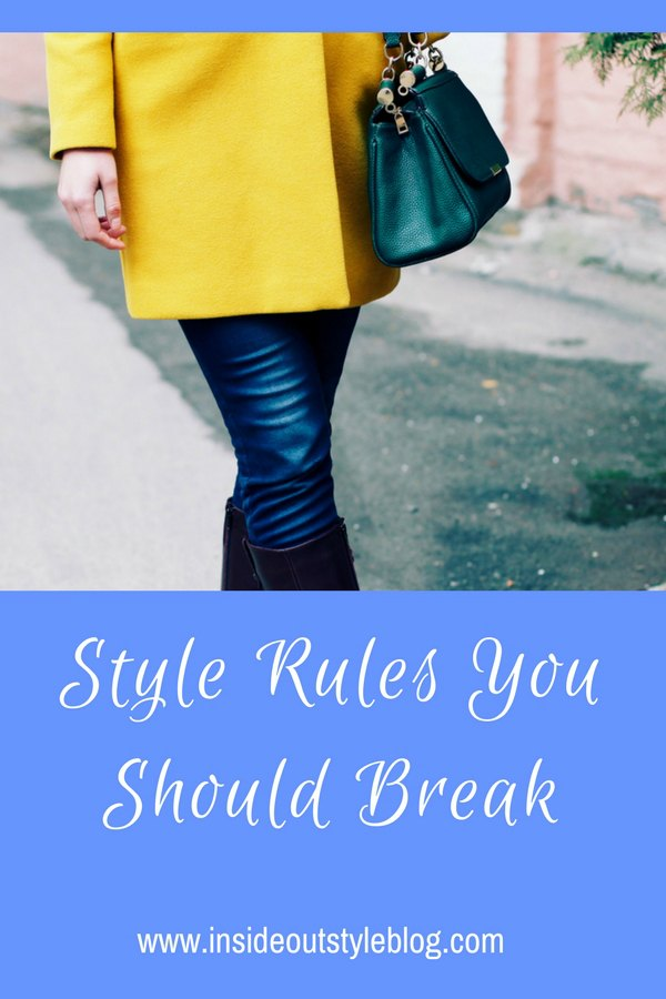 Style rules to not break (and which ones you can break)