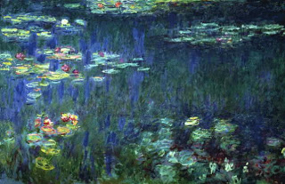 Here we have a Monet that is mostly deep in value