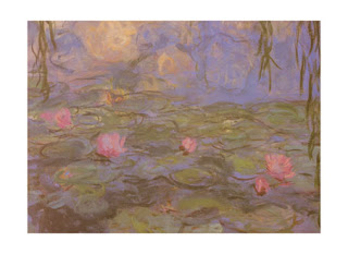 This Monet is muted and has a low saturation of colour