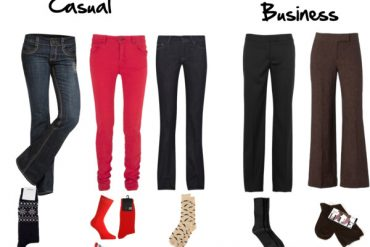 How to choose socks to go with your pants or trousers - for either business or casual outfits