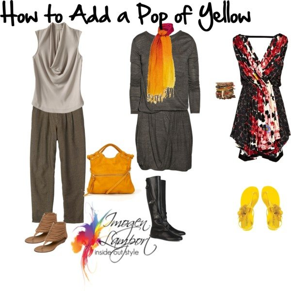 How to add a pop of yellow