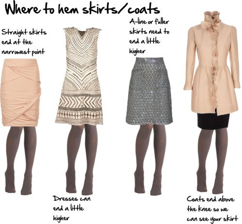 Where to End Your Skirts