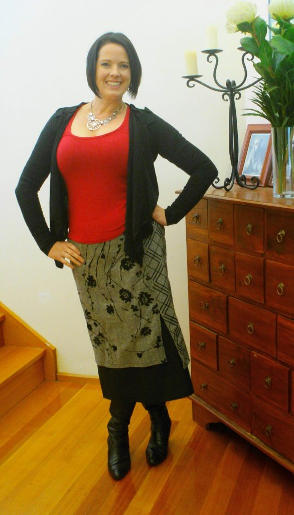 how to style a long midi skirt with boots