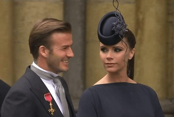 Posh and becks royal wedding