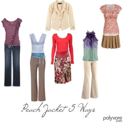Peach Jacket 5 Ways