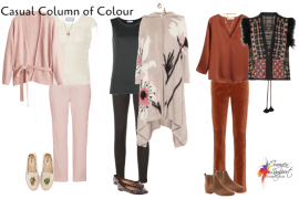 How to create a column of colour in your outfits to elongate and slim