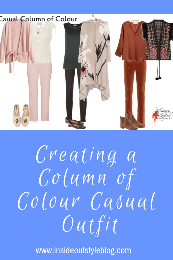 Creating a Column of Colour Casual Outfit