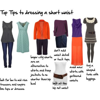 top tips to dressing a short waist