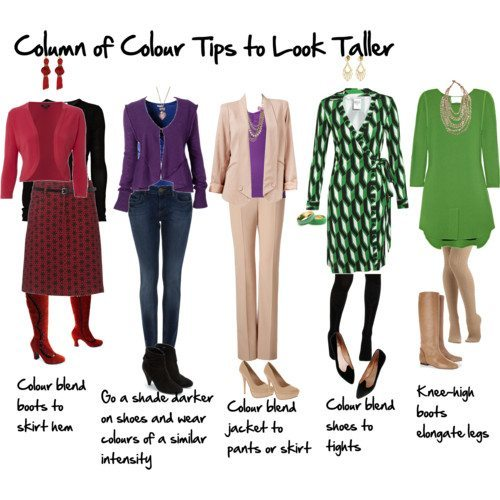 How to Look Taller Using a Column of Colour