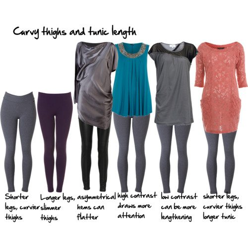 tunic length curvy legs