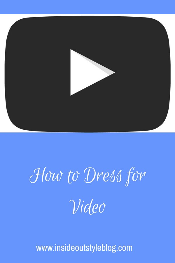 how to dress for video - what to wear - colours to choose, patterns that do and don't work on screen.