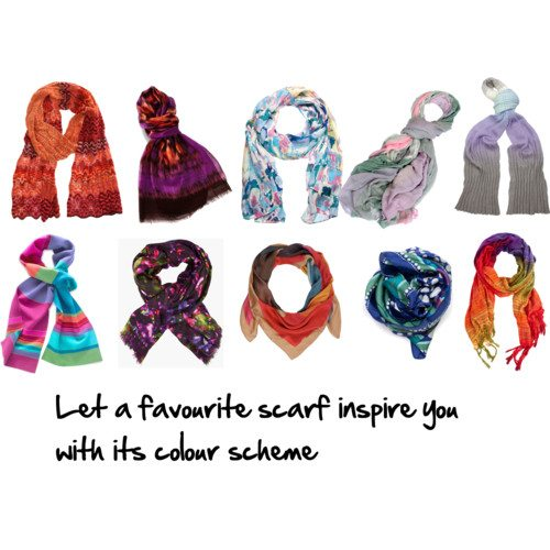 colour schemes in scarves