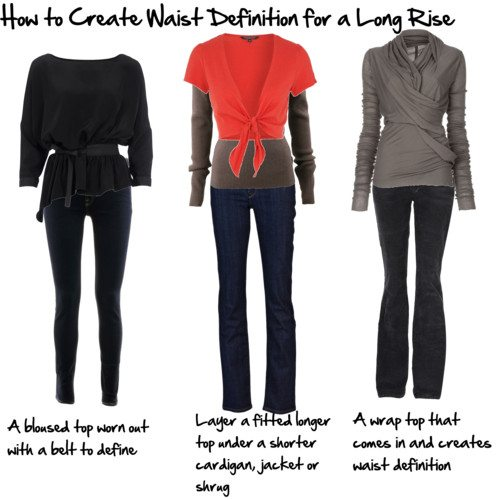 How to create waist definition for a long rise