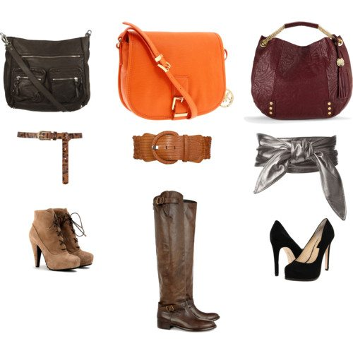 shoes, belts, handbags