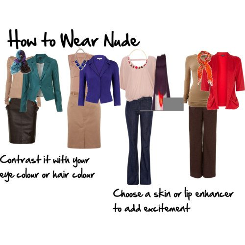 how to wear nude