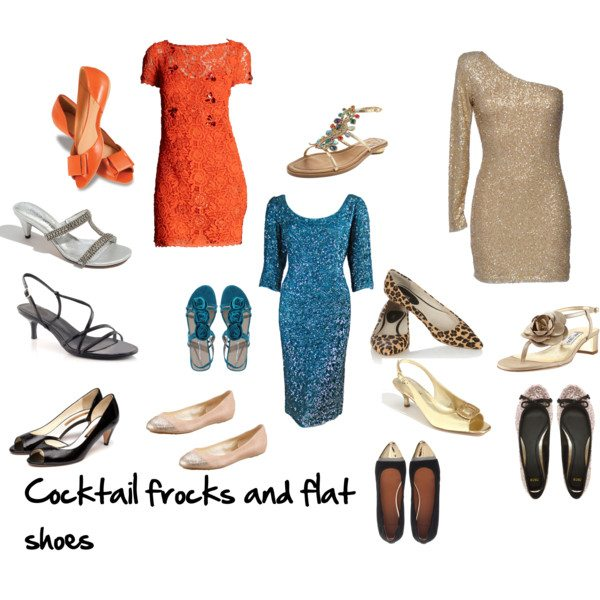 how to choose flat shoes to go with cocktail dresses