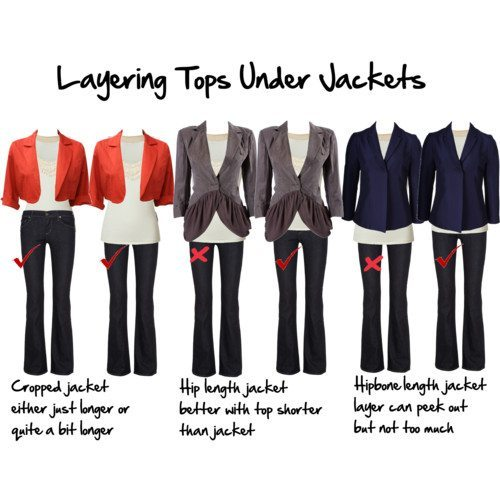 How to layer tops under jackets