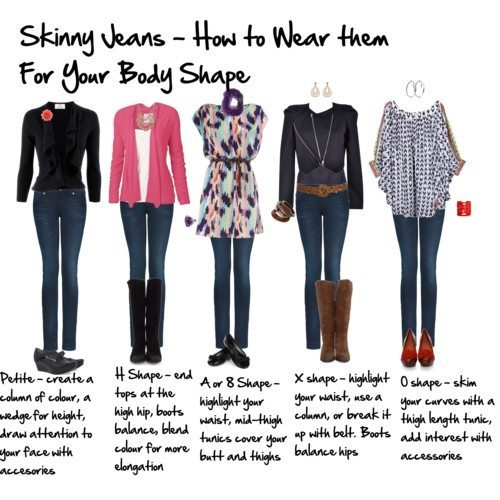 How to Wear Skinny Jeans to flatter your body shape