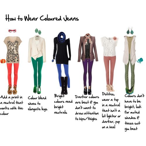 How To Wear Coloured Jeans For The 40 Inside Out Style