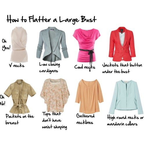 Tops To Flatter A Large Bust Inside Out Style