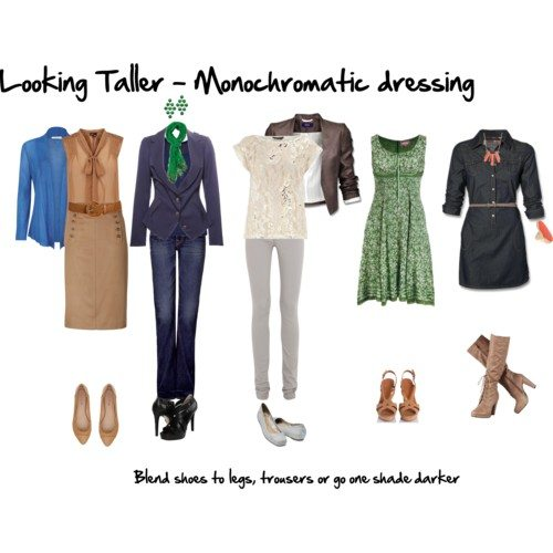 looking taller - monochromatic dressing