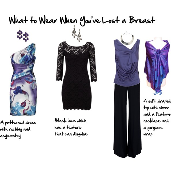 What to wear when you've lost a breast after a mastectomy - formal wear