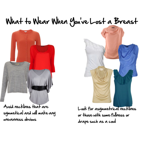 What to wear when you've lost a breast after a mastectomy - choosing necklines