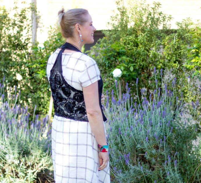 5 ways to wear a waistcoat - the ribbon lace back creates detail and interest