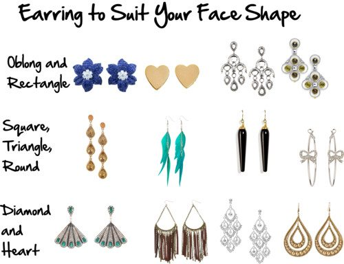 Choose earrings to flatter your face shape